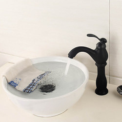 Modern Art Deco Retro Alleen douche Handdouche with Messing ventiel Single Handle Een Hole for Antiek Koper Wastafel kraan