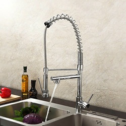 Modern pot Filler Inbouw Met uitneembare spray Handdouche with Keramische ventiel Single Handle Een Hole for Chroom Keuken Kraan