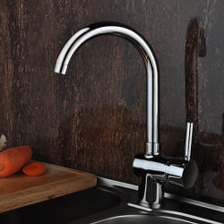Inbouw Single Handle Een Hole with Chroom Keuken Kraan