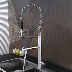 Modern Art Deco Retro Pull out pull down Standard uitloop Tall High Arc Bassin Met uitneembare spray Roteerbaar Handdouche