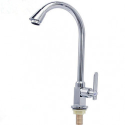 Modern Tall High Arc Bassin Waterval with Messing ventiel Single Handle Een Hole for Olie Gewreven Brons Keuken Kraan