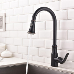 Modern Pull out pull down Middenset Roteerbaar Met uitneembare spray with Keramische ventiel Single Handle Een Hole for