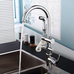Modern Pull out pull down Inbouw Met uitneembare spray Roteerbaar Handdouche with Keramische ventiel Single Handle Een Hole for