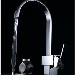 Modern Tall High Arc Inbouw Waterval with Keramische ventiel Single Handle Een Hole for Chroom Keuken Kraan