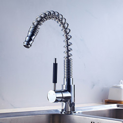 Modern Art Deco Retro Pull out pull down Standard uitloop Tall High Arc Bassin Wide spary Roteerbaar Handdouche with