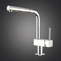 Modern Bar Prep Inbouw Met uitneembare spray Handdouche with Keramische ventiel Single Handle Een Hole for Chroom Keuken Kraan