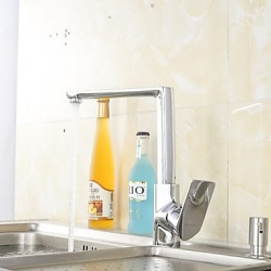 Modern Bar Prep Inbouw Waterval with Keramische ventiel Single Handle Een Hole for Chroom Keuken Kraan