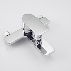 Modern Bad en douche Waterval Inclusief handdouche with Keramische ventiel Single Handle twee gaten for Chroom Badkraan