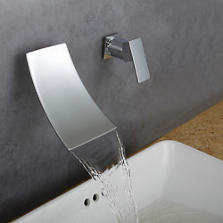 Modern Middenset Waterval Wide spary with Keramische ventiel Single Handle Een Hole for Chroom Wastafel kraan