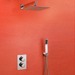 Modern Douchesysteem Thermostatisch with Keramische ventiel Twee Handles Een Hole for Chroom Douchekraan