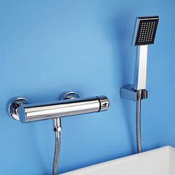 Modern Alleen douche Wide spary with Keramische ventiel Single Handle twee gaten for Chroom Douchekraan