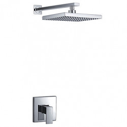 Modern Alleen douche Regendouche with Keramische ventiel Single Handle Een Hole for Chroom Douchekraan