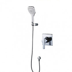Modern Alleen douche Wide spary with Keramische ventiel Single Handle Een Hole for Chroom Douchekraan