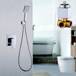 Modern Alleen douche Waterval Regendouche with Messing ventiel Single Handle twee gaten for Chroom Douchekraan