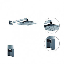 Modern Alleen douche Regendouche with Keramische ventiel Single Handle twee gaten for Chroom Douchekraan