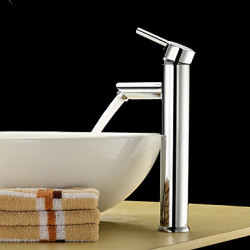 Modern Landelijk Bassin Waterval with Keramische ventiel Single Handle Een Hole for Chroom Wastafel kraan
