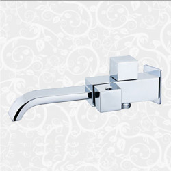 Modern Muurbevestigd Waterval with Keramische ventiel Single Handle Een Hole for Chroom Wastafel kraan