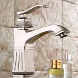 Antiek Traditioneel Art Deco Retro Modern Middenset Waterval Wide spary Handdouche with Keramische ventielSingle Handle twee