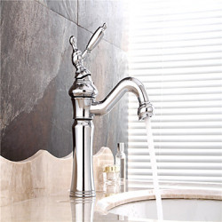 Modern Landelijk Art Deco Retro Middenset Wide spary Roteerbaar Handdouche with Keramische ventiel Single Handle twee gatenfor