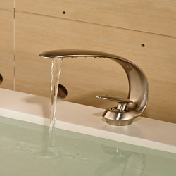Modern Middenset Waterval with Keramische ventiel Single Handle Een Hole for Perzik Wastafel kraan