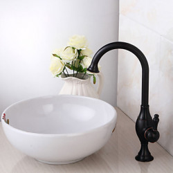 Antiek Traditioneel Landelijk Middenset Waterval Wide spary Handdouche with Keramische ventiel Single Handle twee gaten for