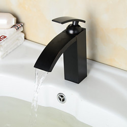 Antiek Traditioneel Modern Middenset Waterval Wide spary Handdouche with Keramische ventiel Single Handle twee gaten for Antiek